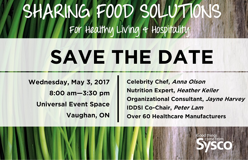 Canadian Society Of Nutrition Management Csnm Sysco Sharing Food Solutions Sysco Ontario